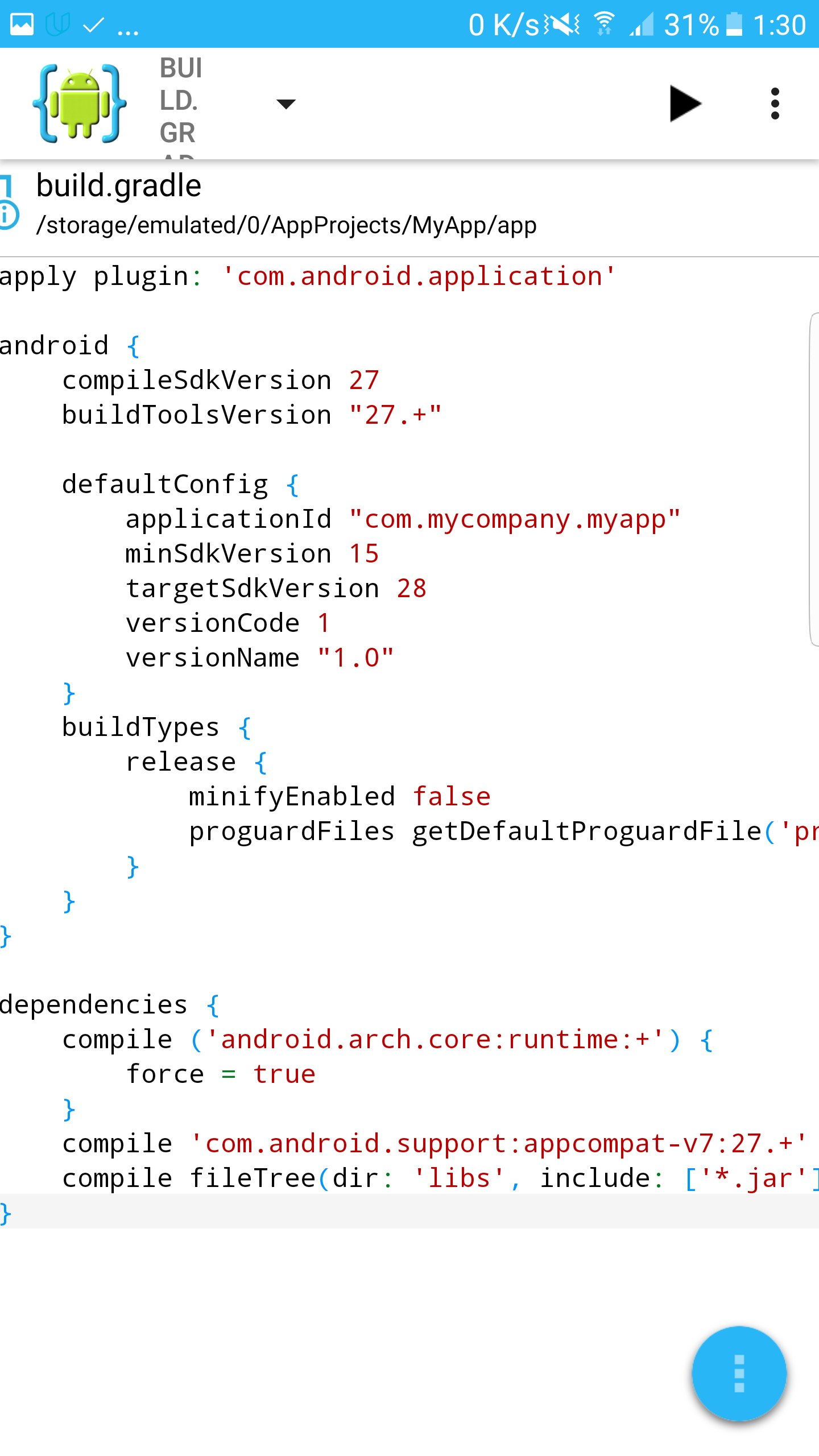 Solved error with AppCompat 27 - Advanced - Android IDE
